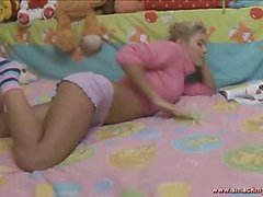 Olya sits in bed in a pink sweater and pages through a book during the time that this chick waits for her chap to show up. SheтАЩs slutty and getting a little hopeless for sexual release. HeтАЩs the only one that can bring her the fun that chick seeks! After expecting also long this charming teenager pulls her panties off and masturbates, juicing up her fur pie for when this chab shows up. The pumped up young chap finally comes into the bedroom and out of saying much this chap plays with her ribald cleft, generating even greater amount sloppy wetness down there so the 2 of 'em can indeed engage in the ribald play they fantasy of. SheтАЩs going to have great legal age teenager sex and that tanned and taut body looks outrageously hot throughout. Her tummy is utter perfection! The sweater fetish fans will be delighted to know that that chick keeps it partially on through the set. The final position is her on top riding hard and that chick looks so great as that chick indeed bounces hard.