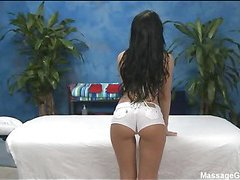 Hot and lustful Eighteen year old whore acquires a hard fuck from her massage therapist