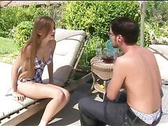 Legal age teenager girl widens buns getting dick in taut anal aperture