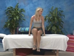 Hot 18 year old gal receives drilled hard from behind by her massage therapist