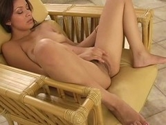 Hotty is exposing her delights and play with tireless sex toy