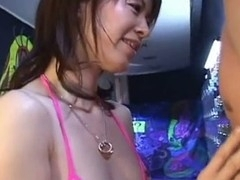 Horny Japanese honey Ai Himeno in swimsuit is giving a hawt and horny oral stimulation here. That Sweetheart tenderly play with the fellow ramrod, sucks it like a candy and expect for the large load. A must watch!